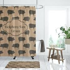 image 0 pig shower curtain peppa uk farmhouse chic personalized