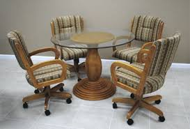 good dining room chairs with arms and casters alfa dinettes caster dinette sets