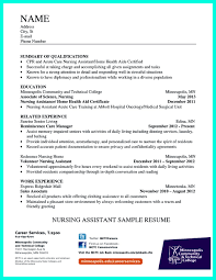 Certified Nurse Aideesume Examples Nursing Assistant Objective