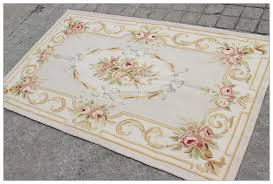 aubusson rug 3x5 grey gold pink