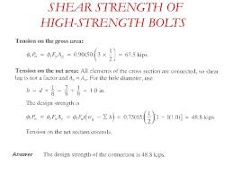 Lag Bolt Strength Shear Strength Of High Strength Bolts Lag
