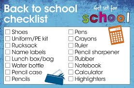 Checklist For School Your Essential Back To School Checklist Wilkolife