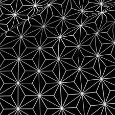Japanese Pattern Simple Japanese Pattern Black Stars Fabric Vannina Spoonflower