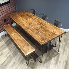 this listing is for table plus 1 x bench our truly unique reclaimed pallet wood dining tables and becnhes have been created using unwanted pallet wood