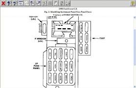 1998 ford escort fuse panel diagram great installation of wiring 1998 ford escort fuse box electrical problem 1998 ford escort rh 2carpros com 1998 f150 fuse