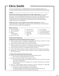 Combination Resume Resumes Fresh Sample Template And Astonishing