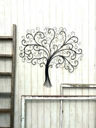 >metal wall decor tree sdai  large metal wall art decor tr evergreen
