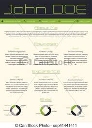 Modern Resume Templates Green Modern Curriculum Vitae Cv Resume In Green Gray Colors Modern