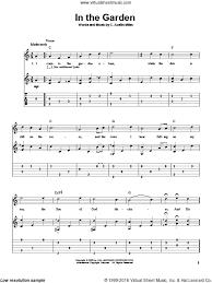 in the garden sheet music. Beautiful Music In The Garden Sheet Music For Guitar Solo By C Austin Miles Intermediate  Skill And Sheet Music Virtual