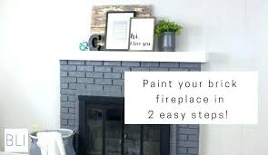 painted gray fireplace gray brick fireplace paint your brick fireplace in two easy steps the quick painted gray fireplace