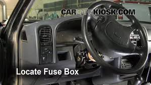 interior fuse box location nissan pathfinder  locate interior fuse box and remove cover