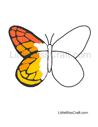 Small Picture Crafts Monarch Butterfly Outline Coloring Page