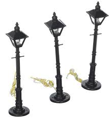 O Scale Street Lights Buy O Old Time Gas Lamp Post Square Gray 3 By Model Power