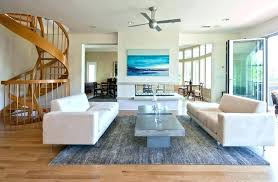 beach house style ceiling fans white cottage living room coastal
