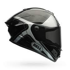 bell pro star tracer black white carbon fiber street motorcycle