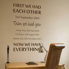 Small Picture personalised we had each other wall sticker by nutmeg