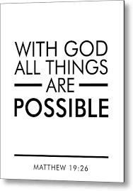 Image result for with god all things are possible