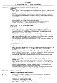 Instructional Design Resume Examples Curriculum Designer Resume Samples Velvet Jobs 24