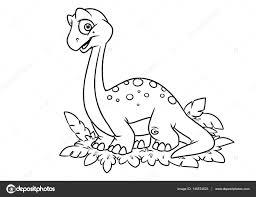 Dinosaurus Kleurplaat Pagina Cartoon Illustraties Stockfoto