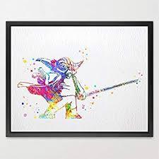 dignovel studios 8x10 yoda star wars inspired watercolor art print wall art hanging home decor nursery on star wars baby wall art with amazon dignovel studios 8x10 yoda star wars inspired