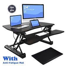 adjustable standing desk converter. Contemporary Converter 36u0026quot Height Adjustable Standing Desk Converter Stand Up Riser With  Free Antifatigue Inside