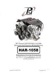 instructions ls2 ls3 vortec 58x w t56 or 4l60e 4l80e automatic harness instructions drive by cable