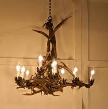 german 19th century black forrest stag antler hanging chandelier 1 of 15