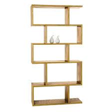 Staggered Wood Bookshelf