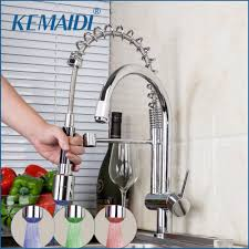 2019 Kemaidi New Design Swivel Pull Down Spray Kitchen Faucet Sink