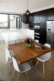 modern kitchen table with bench. I Like The Designs Idea Of Having A Table Extend From Island Bench. Modern Dinning TableContemporary Dining Kitchen With Bench