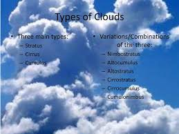 Types Of Clouds Ppt Ppt Clouds Second Grade Science Powerpoint Presentation