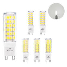 Miniature Led Lights Us 18 99 Super Bright 7w G9 Gu9 Miniature Led Light Bulb Capsule Corn Lamp Bulbs Cool White Ac220 240v Replace 60w G9 Halogen Light Bulb In Led