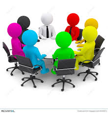 people around a table clipart
