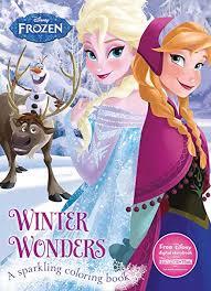 winter wonders coloring book disney frozen color fun
