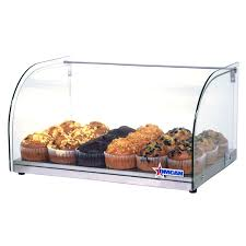 22 inch countertop food display case with curved front glass and 25 l capacity omcan