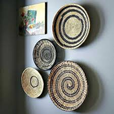 woven basket wall decor decorating with wicker