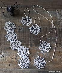 Spider Web Earrings Bracelet Spider Web Jewelry Martha Stewart Punch ...