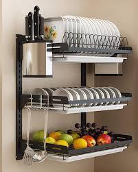 hanging dish drying rack wall mount