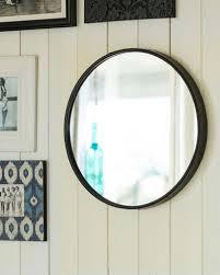 boudoir round wall mirror black metal frame dia25cm with regard to dimensions 819 x 1024