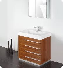fresca livello 30 teak modern bathroom vanity with faucet medicine rh listvanities com