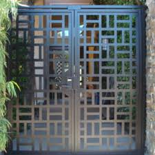 front door gateBuy a Handmade Contemporary Metal Dual Entry Gate Modern