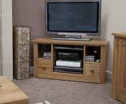 Corner Tv Unit Torino Solid Oak Corner Tv Unit Oak Furniture Uk