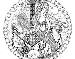 Small Picture Fashion Coloring Page Mermaid of Cambodia Fantasy Coloring