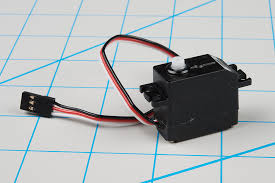 a typical hobby servo an ordinary dc motor
