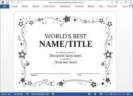 Award Templates Award Certificates Templates Word Rome Fontanacountryinn Com