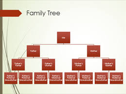Family Tree Organizational Chart Template Family Tree Chart Vertical Green Red Widescreen
