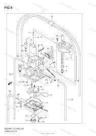 suzuki motorcycle 2006 oem parts diagram for carburetor model k1