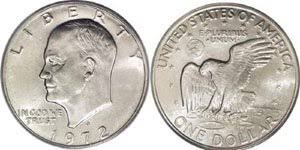1972 Eisenhower Silver Dollar Value Chart Eisenhower Dollar Value Coin Helpu