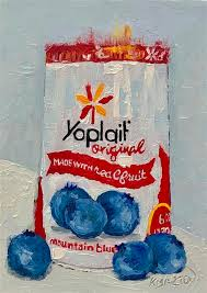 Blueberry Yoplait by Karen Barton - oil painting | UGallery