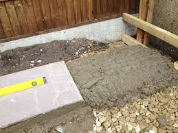 full bed of mortar for natural stone paving